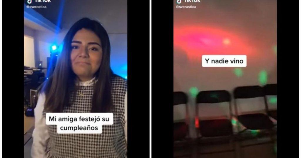 Joven hace mega fiesta y solo van 3 personas: se volvió viral en Tik Tok